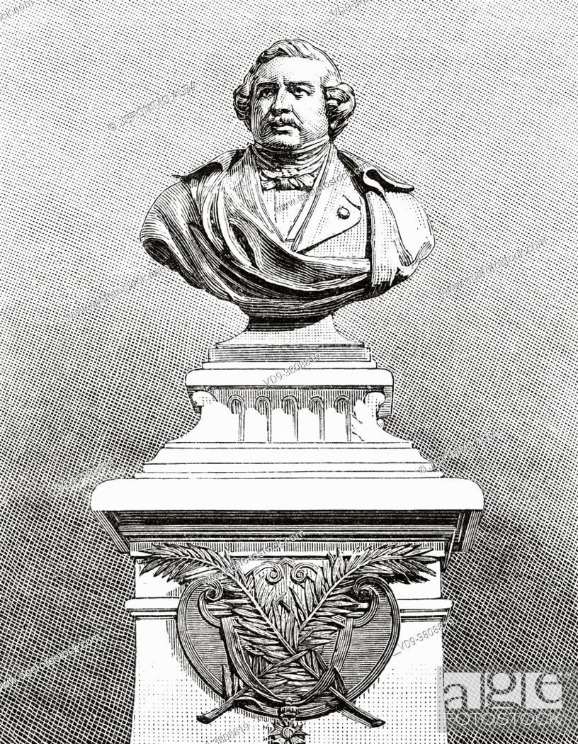Stock Photo: Louis-Jacques-Mandé Daguerre (1787-1851) known as Louis Daguerre, was the first popularizer of photography, after inventing the daguerreotype.