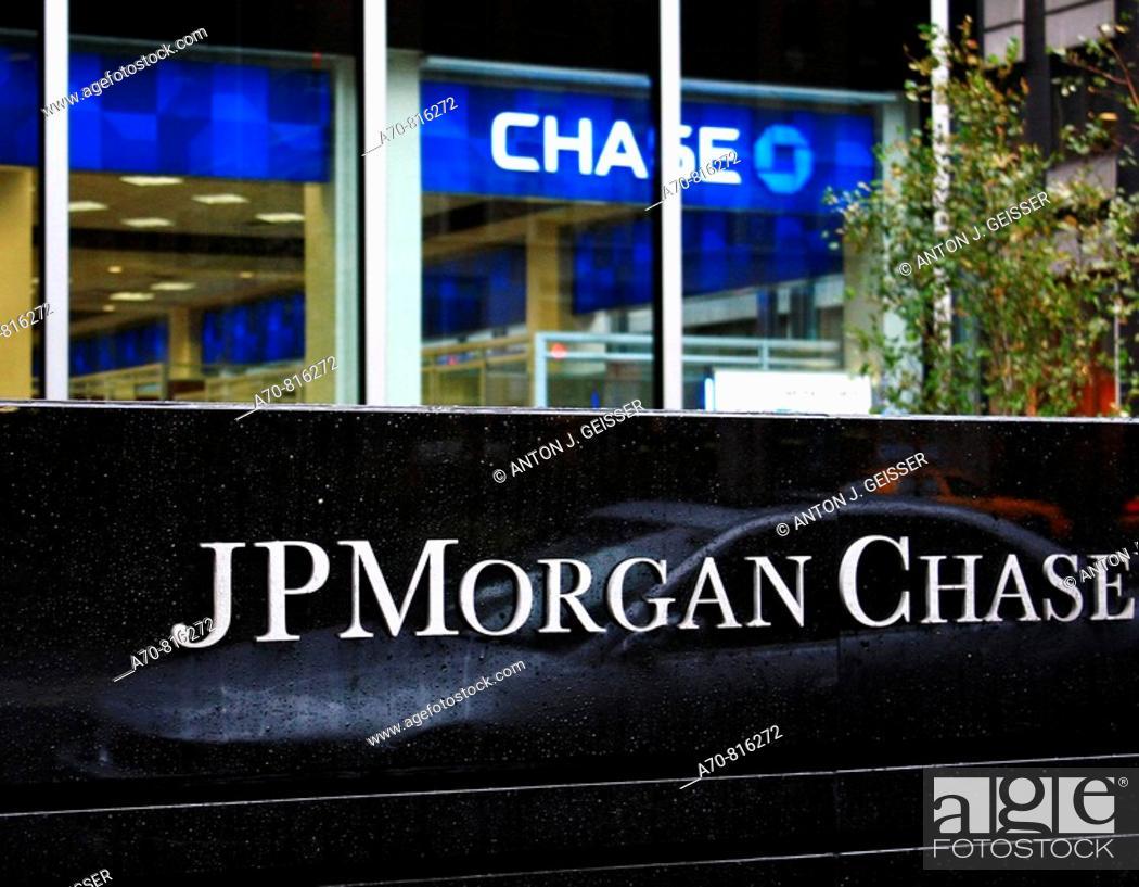 Stock Photo: JPMorgan Chase Bank. New York. . USA.