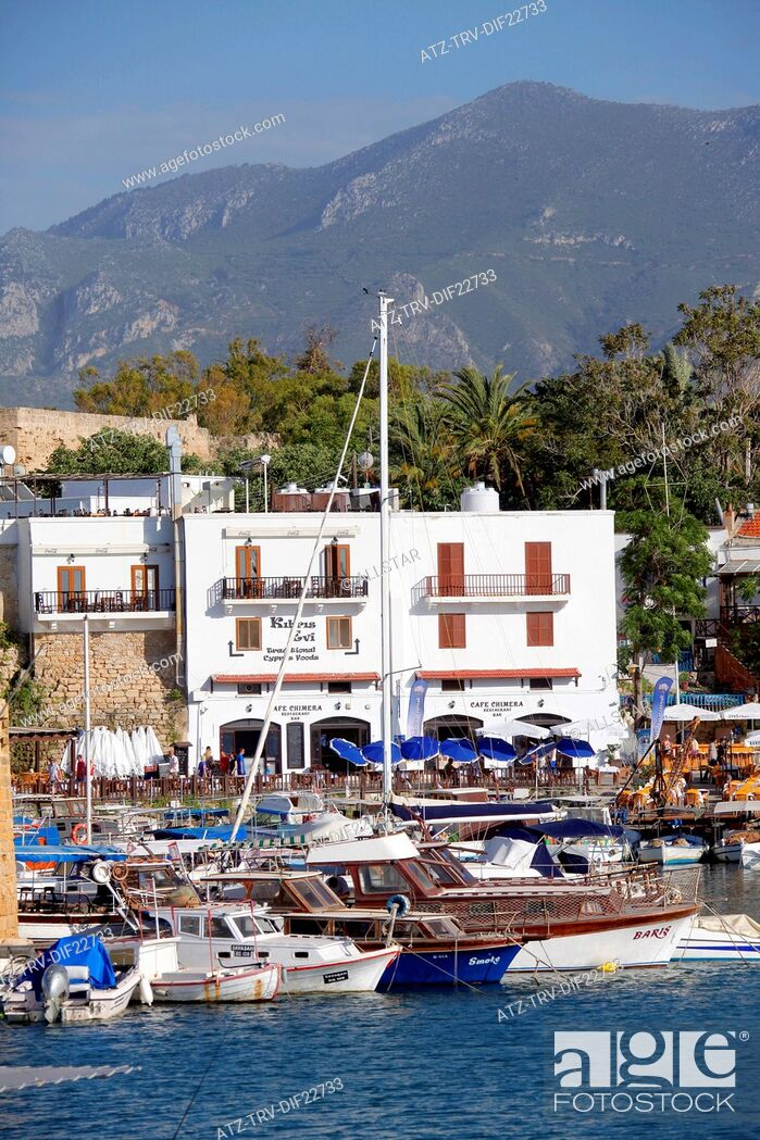 Stock Photo: BOATS IN HARBOUR; KYRENIA, NORTHERN CYPRUS; 25/05/2013.