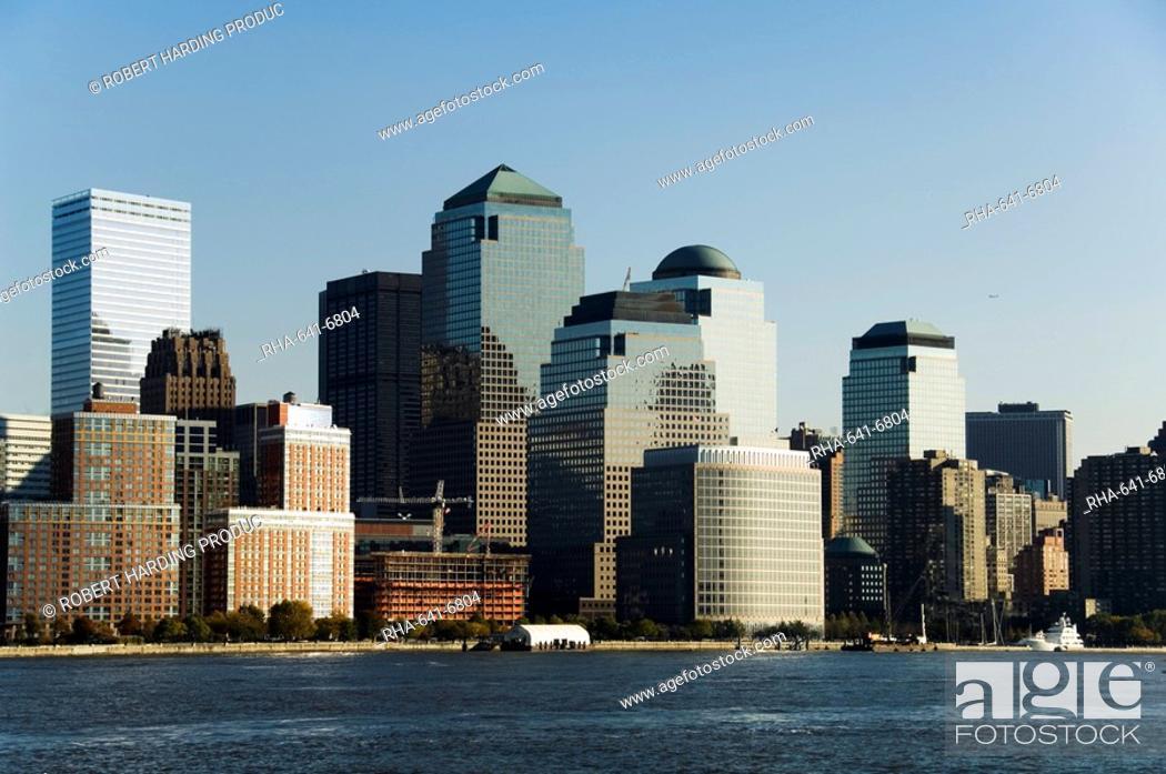 Stock Photo: Business district, Lower Manhattan, New York City, New York, United States of America, North America.