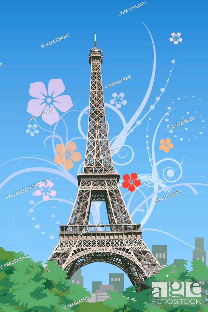 Stock Photo: France, Paris, Eiffel Tower, Capital Cities.