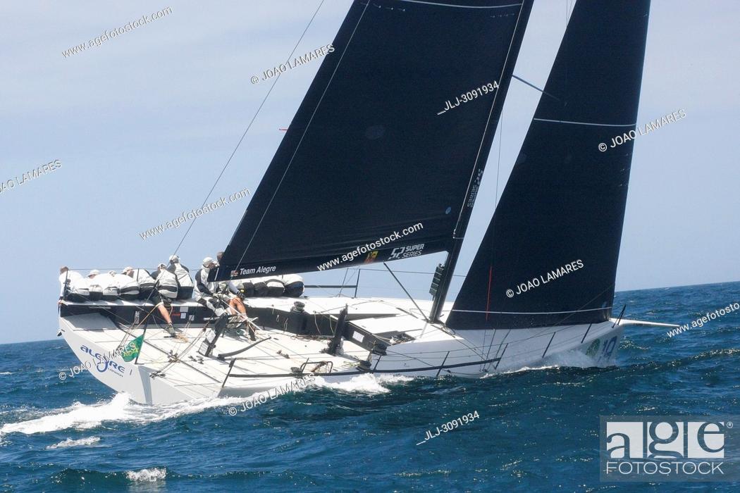 Stock Photo: Alegre, #19, Owner: Andy Soriano, Sail nr: GBR8819R, Yacht Club Monaco, Builder: Longitud Cero; Rolex TP 52 World Championship, TP52 Super Serires, Cascais.