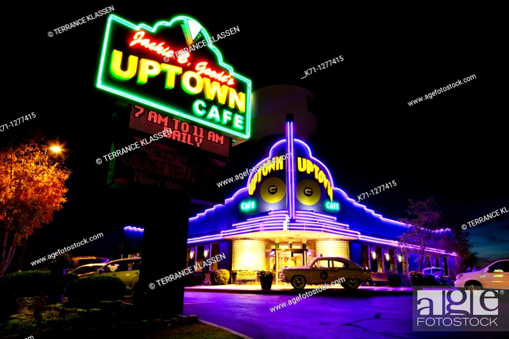 Stock Photo: The Uptown Cafe Diner in Branson, MIssouri, USA.
