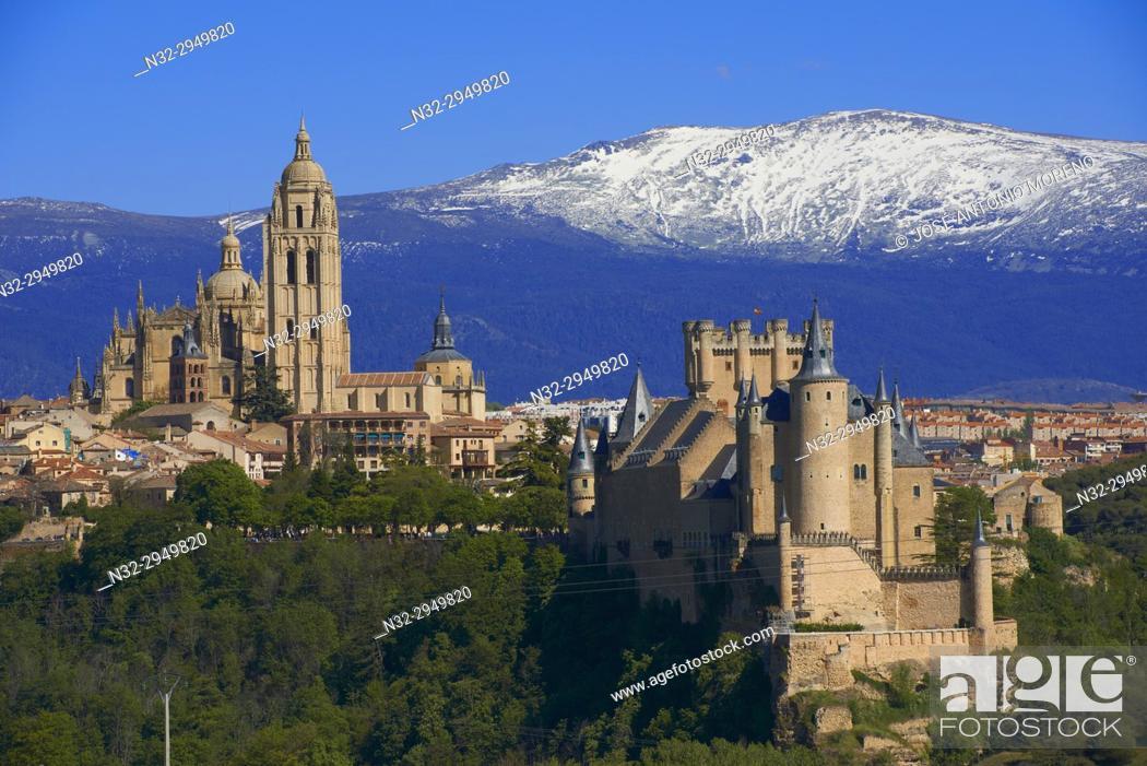 Stock Photo: Cathedral, Segovia, Castilla-Leon, Spain.