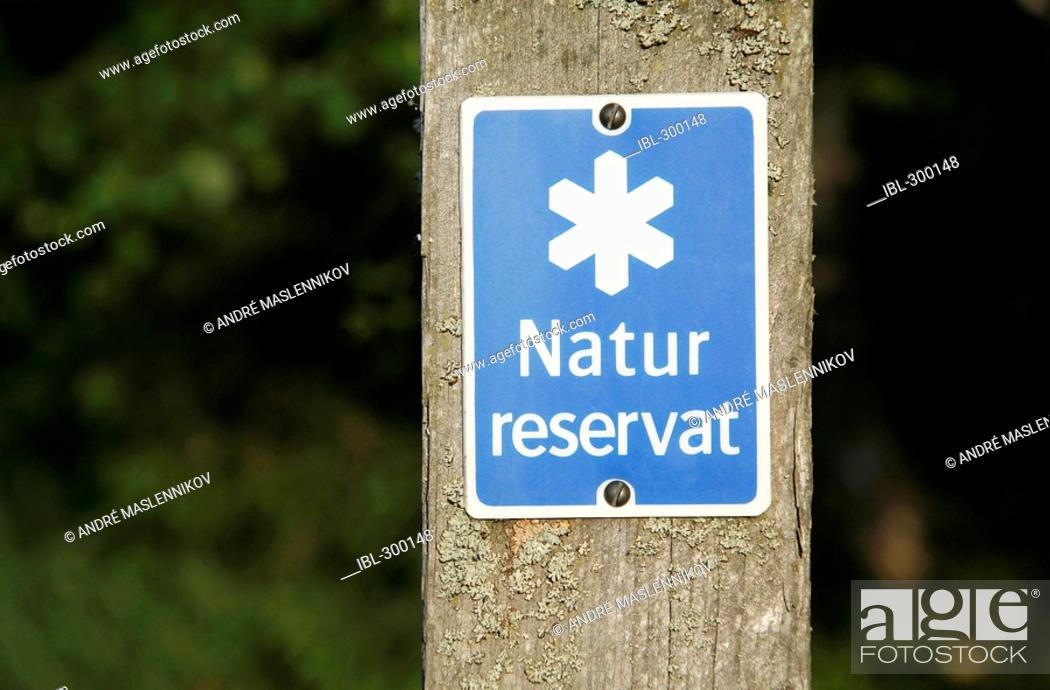 Stock Photo: Nature reserve-sign.