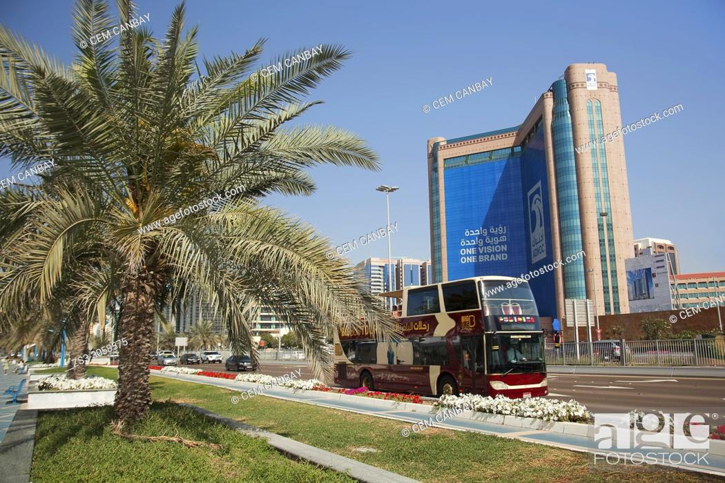 ADNOC, Abu Dhabi National Oil Company building, one of the