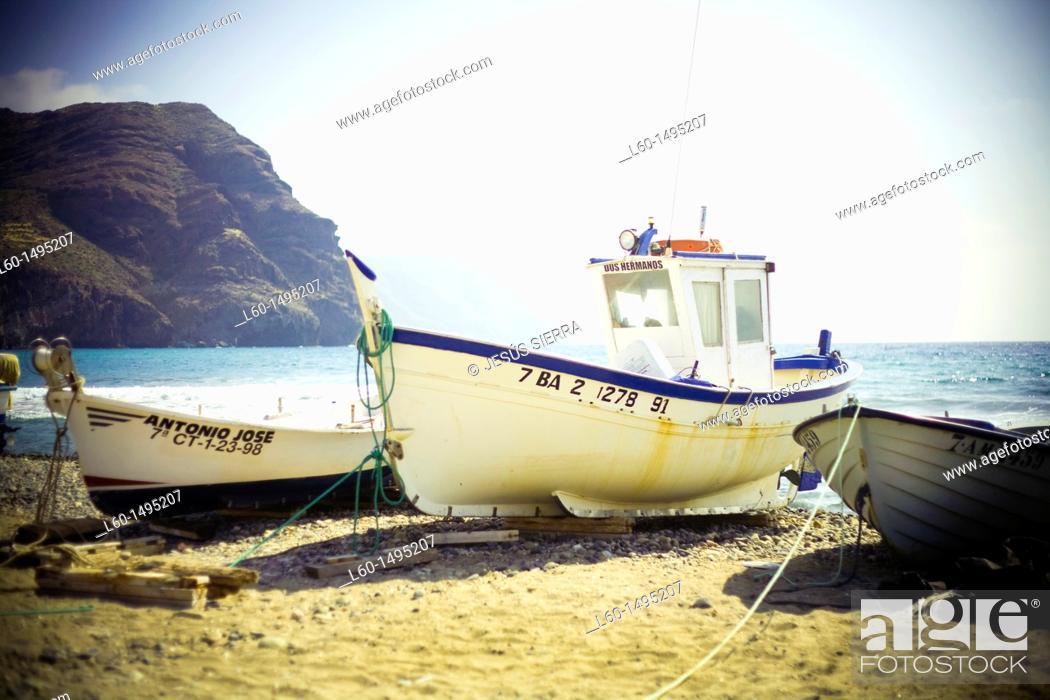 Stock Photo: Boats in Las Negras, Cabo de Gata, Almeria.