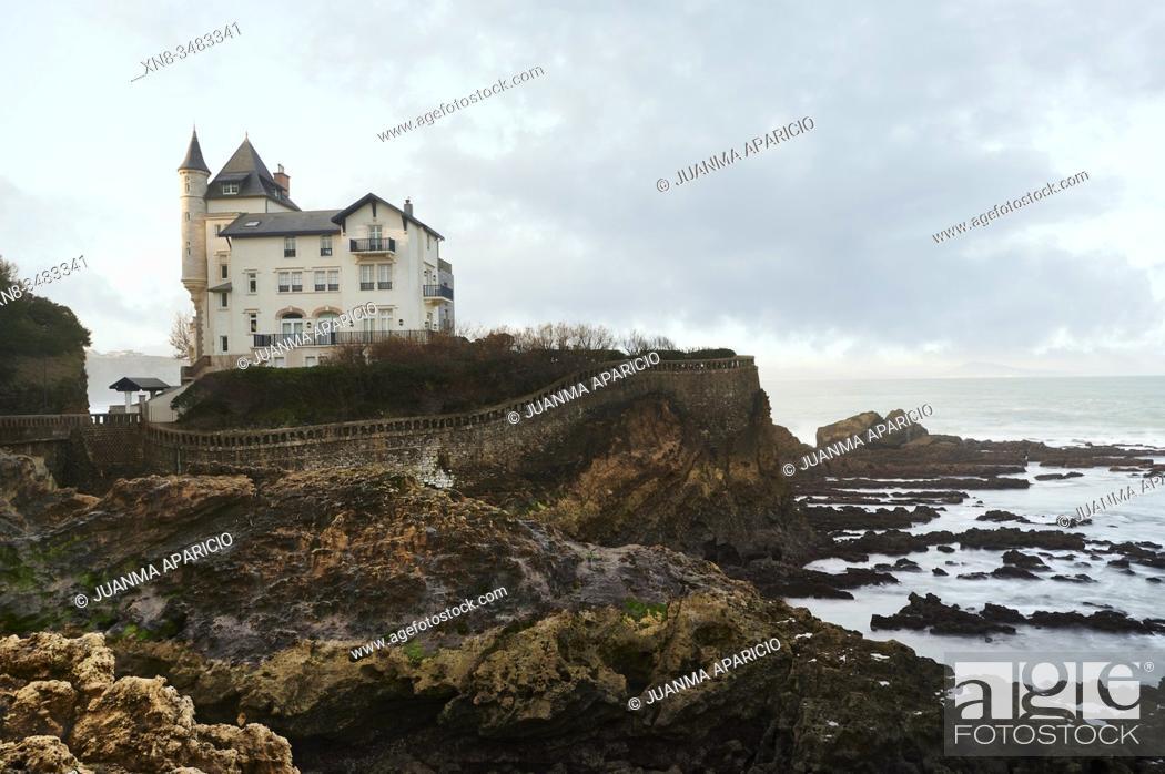 Imagen: Villa Beltza (Villa Belza) palace, Côte des Basques, Biarritz, French Basque Country, France.