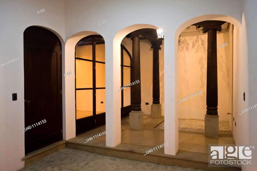 Stock Photo: Guatemala, colonial home, garage.