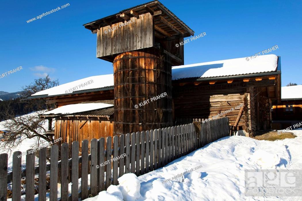 Residential House And Farm Building Food Storage Mountain Farm
