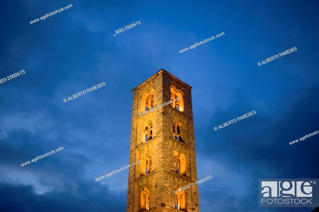 Stock Photo: Sant Climent de Taull romanesque church. Taull, Vall de Boi, Lleida, Catalonia, Spain. Unesco World Heritage Site.