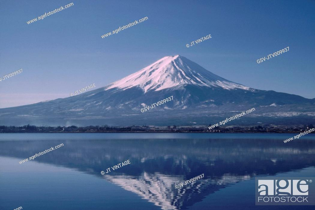 Stock Photo: Mount Fuji, Japan, 1970.