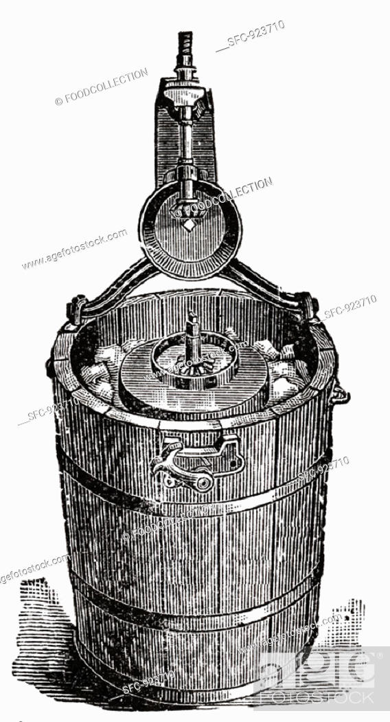 Stock Photo: Old ice cream maker (illustration).