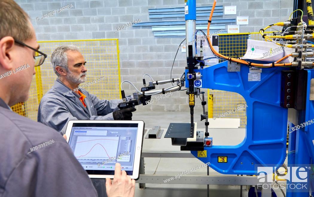 Stock Photo: Riveter, Industry Unit, Automotive Industry, Technology Centre, Tecnalia Research & Innovation, Derio, Bizkaia, Basque Country, Spain.