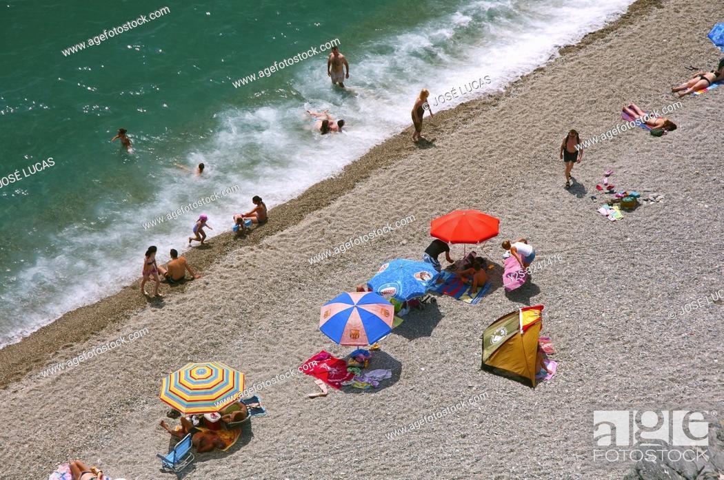 Imagen: San Cristobal beach, Almuñecar, Granada province, Region of Andalusia, Spain, Europe.