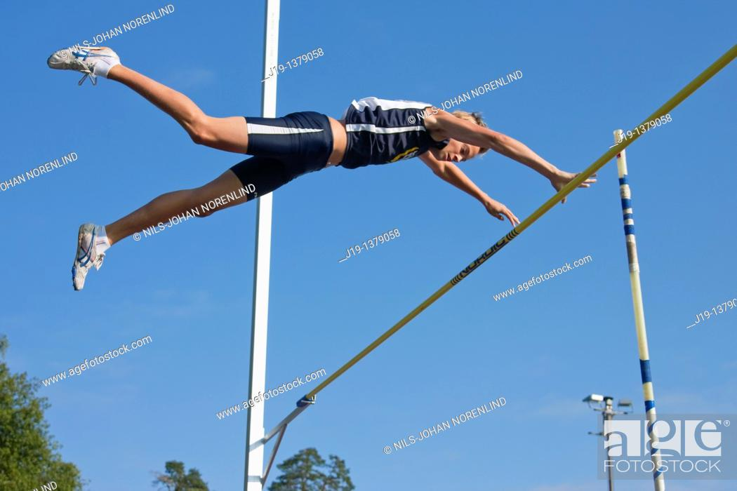 Stock Photo: Athletics with spex elements young people 18 year, Sweden.
