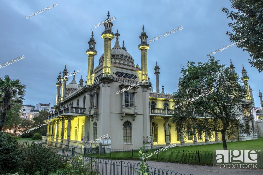 Stock Photo: Royal Pavillion in Brighton, East Sussex, England.