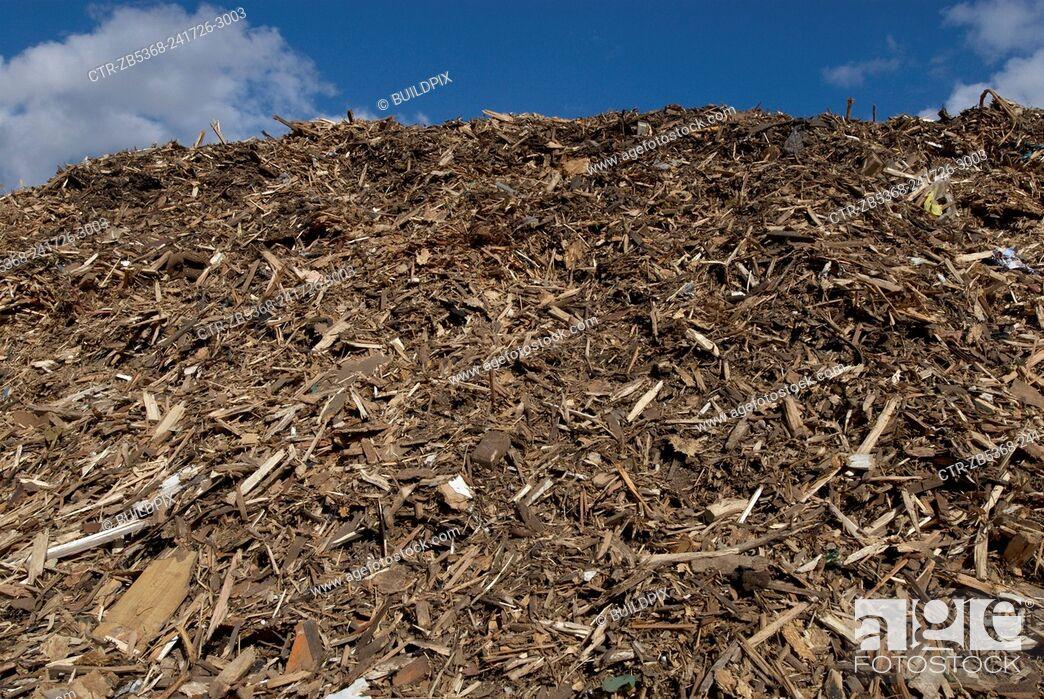 Imagen: Recycling garden and wood waste, Peterborough, Cambridgeshire, UK.