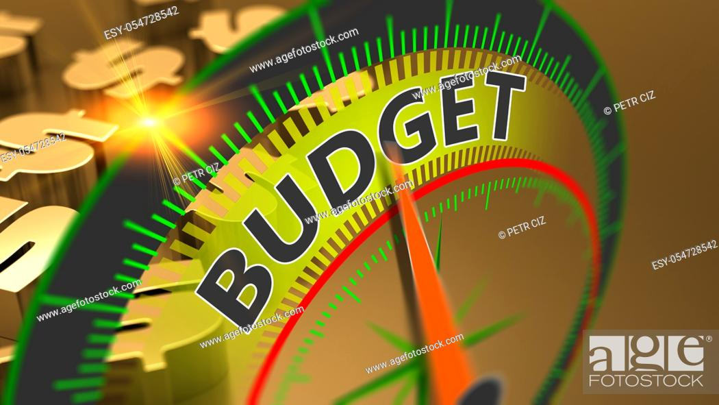 Stock Photo: Budget, money, capital and finance as a business concept background. Economic prosperity, investment saving money.