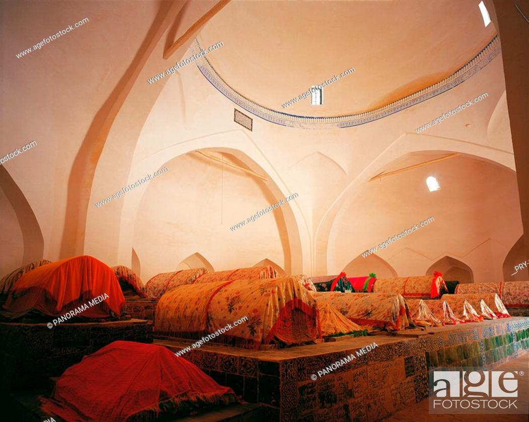 Stock Photo: the inner scene of the tomb of a imperial concubine in Kaahi,Sinkiang,China.