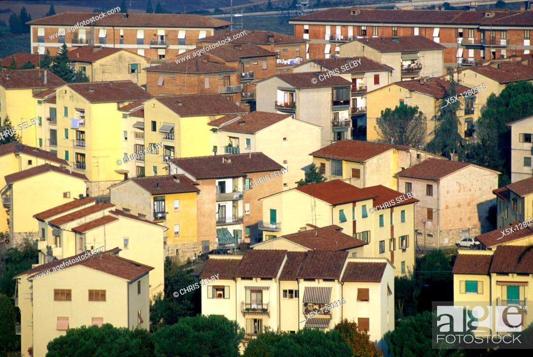 Stock Photo: Modern urban housing in Milano, Italy.