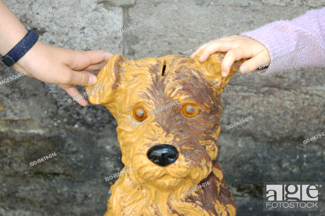 Stock Photo: Dog collection box.
