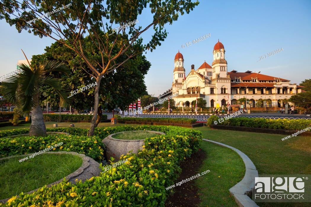 Stock Photo: The Portugese colonial Lawang Sewu building, Semarang, Indonesia.