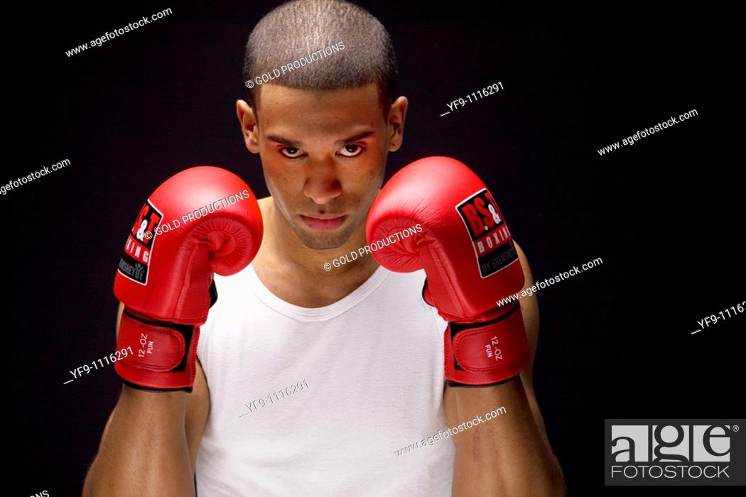 Stock Photo: Young boxer.