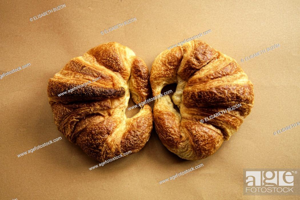 Photo de stock: Baked croissants.