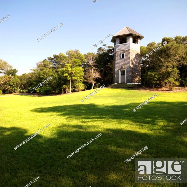 Stock Photo: Lookout tower at park in Bald Head Island, North Carolina.