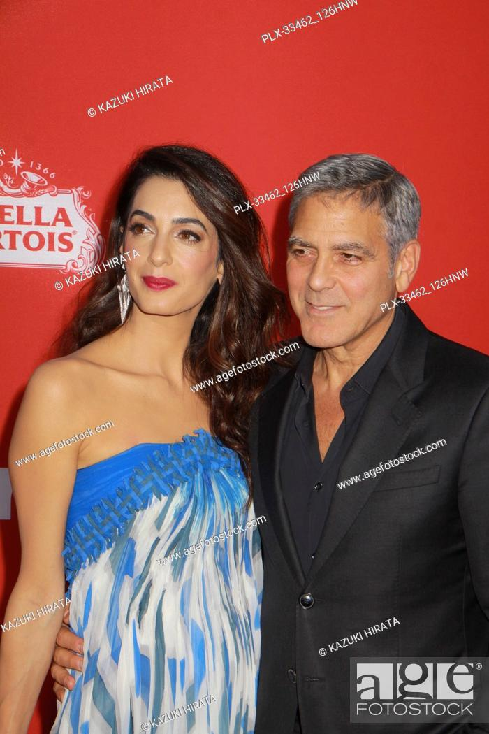 "Stock Photo: Amal Alamuddin Clooney, George Clooney 10/22/2017 """"Suburbicon"""" Premiere held at the Regency Village Theatre in Westwood."