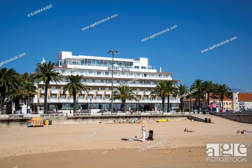 Hotel Baia Cascais : Ribera beach and hotel baia cascais lisbon portugal stock photo