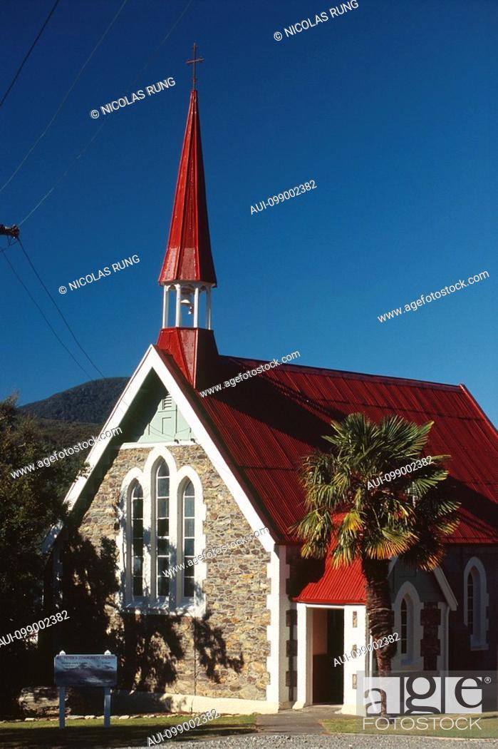 Stock Photo: New Zealand - South Island - Marlborough Sounds - Havelock Chapel.