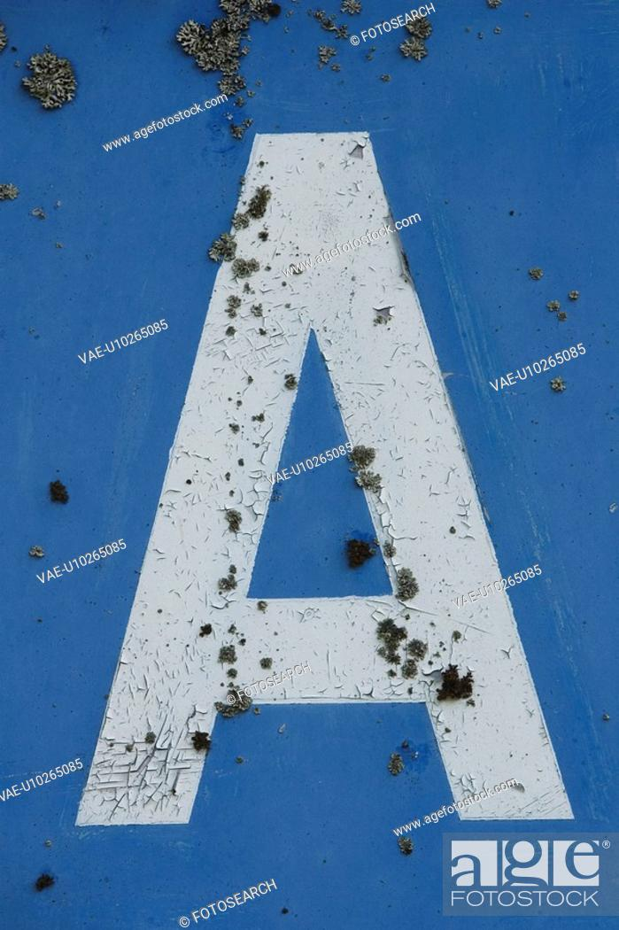 Stock Photo: Outdoors, Alphabet, Letter.