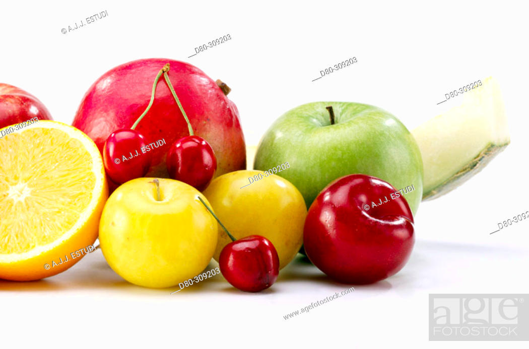Stock Photo: Fruits.
