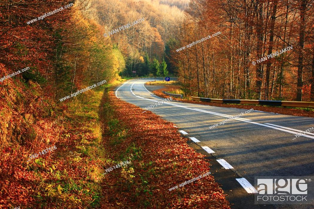 Stock Photo: Transfagarasan Road, Carpathian Mountains, Romania.