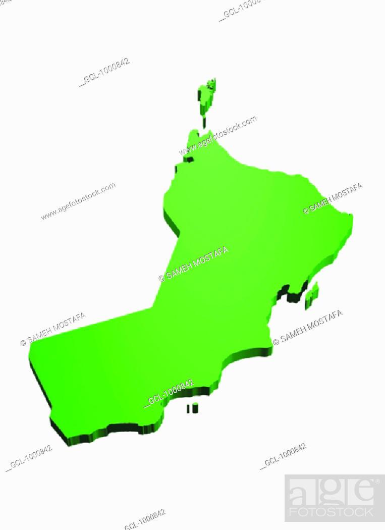 Stock Photo: map of Oman.