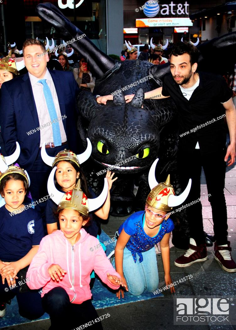 Jonah Hill and Jay Baruchel at DreamWorks How to Train your Dragon