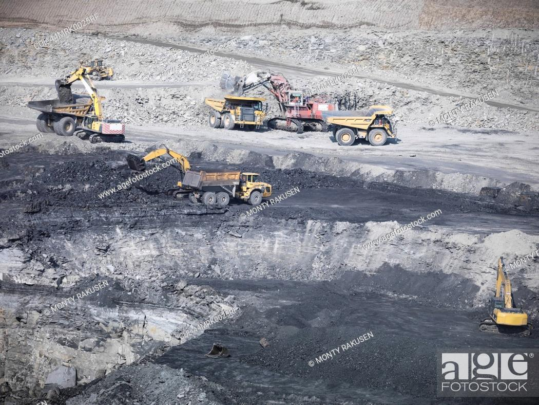 Stock Photo: Construction work in coal mine.