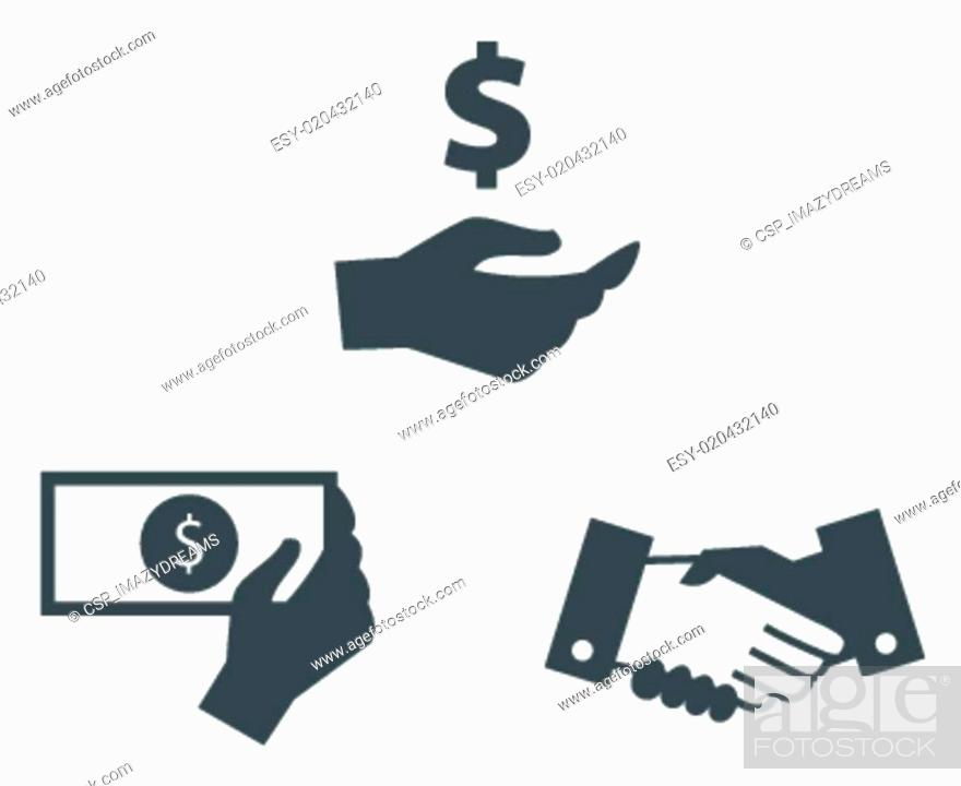 Stock Vector: Hand Collection Symbol.