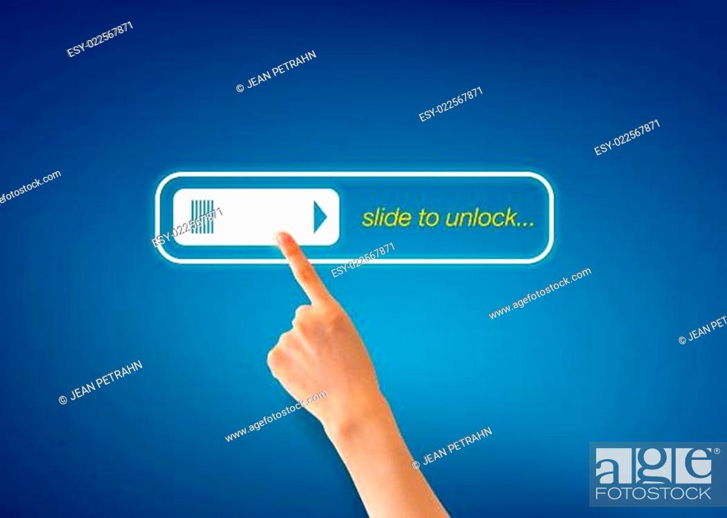 Photo de stock: Slide to unlock.