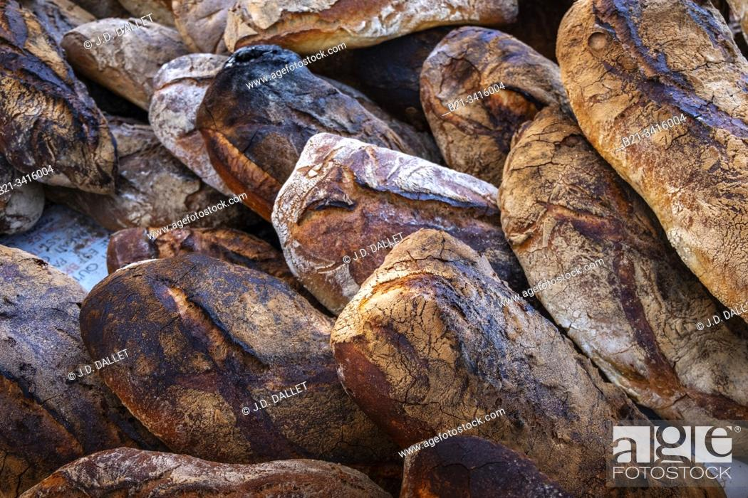 "Stock Photo: France, food, """"Pain de Campagne""""."
