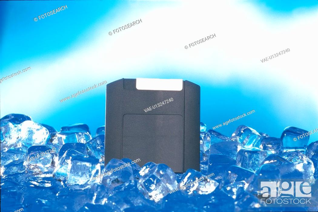 Stock Photo: ice, object, floppydiskette.