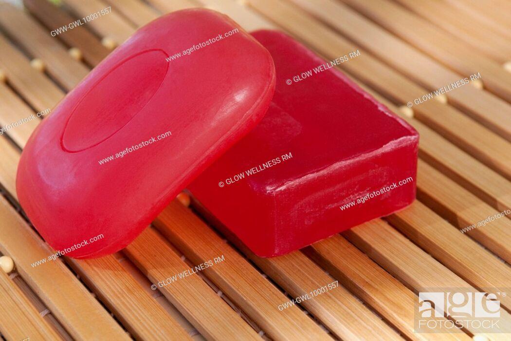 Photo de stock: Close-up of bars of soap.