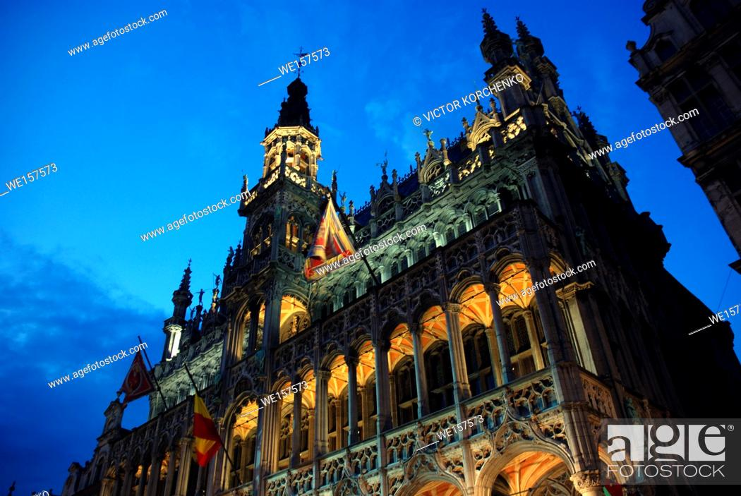 Stock Photo: Maison du Roi (King's House), Grand Place, Brussels, Belgium.