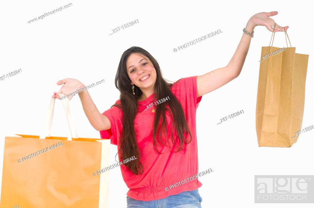 Stock Photo: Happy Teen Shopper.