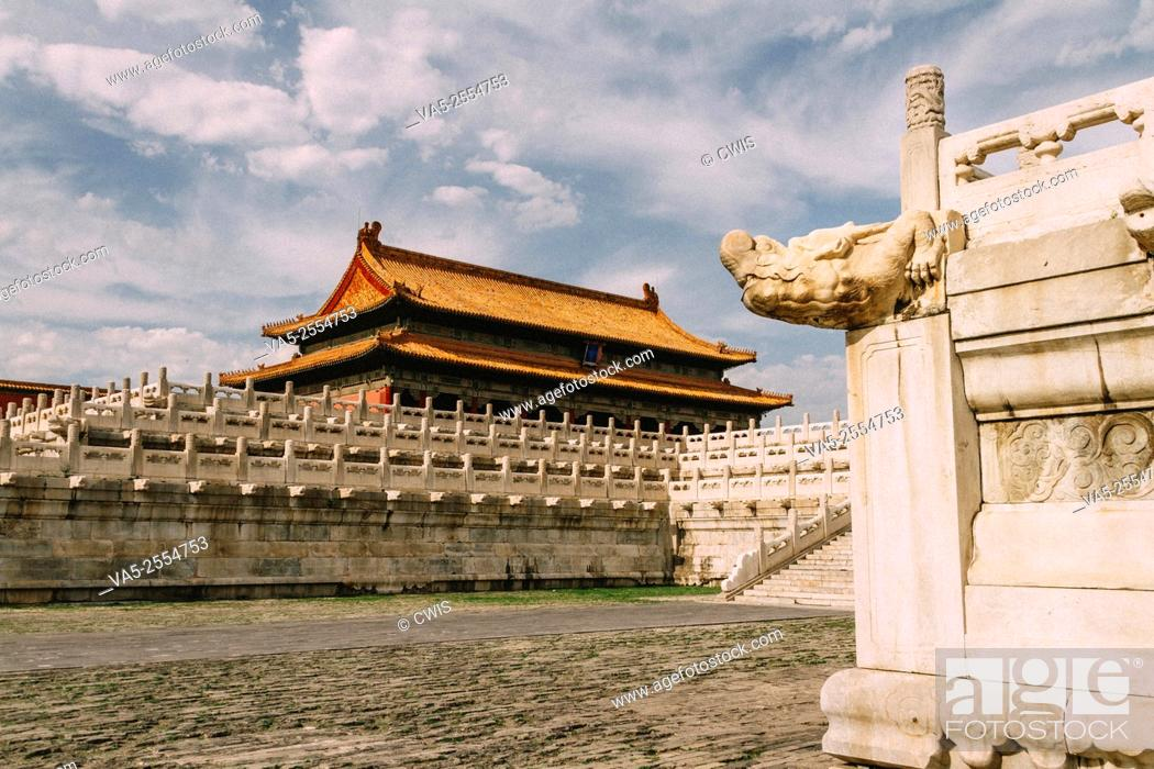 Stock Photo: The view of Taihe Palace in the daytime.