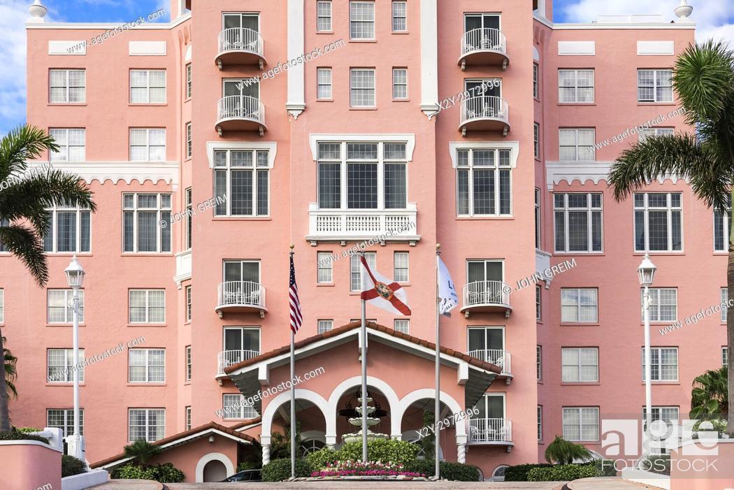 Stock Photo: Don CeSar Beach Resort and Spa, St Petersburg, Florida, USA.