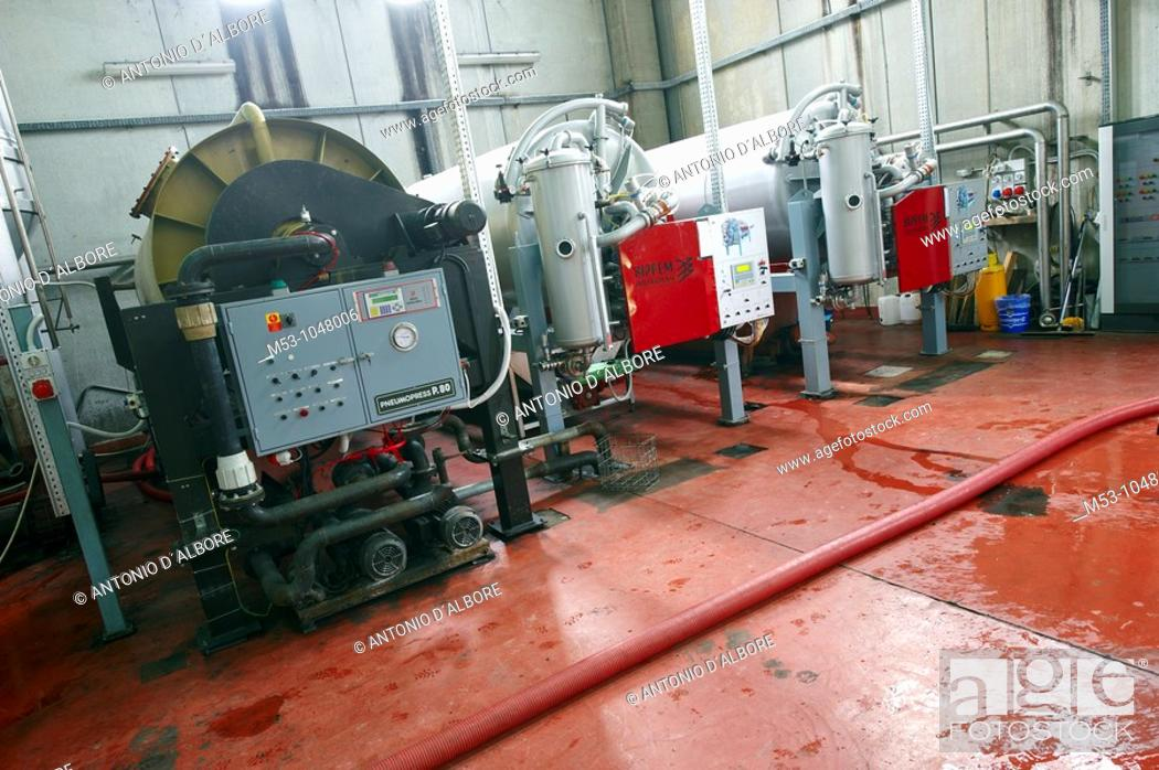 Stock Photo: Vacuum Presses for making wine.