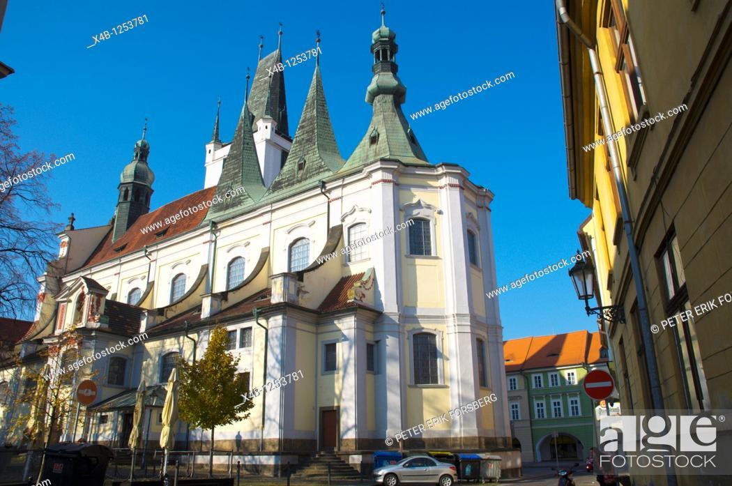 Stock Photo: Church of Alll Saints Vsech svatych church Litomerice north Bohemia Czech Republic Europe.